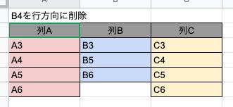 deletecells - 実行後(行)