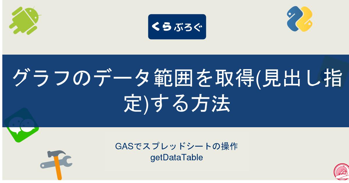 GASでスプレッドシートのグラフのデータ範囲を取得(見出し指定)する方法